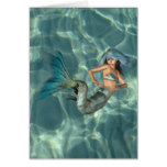 Underwater Mermaid Card
