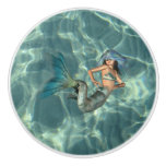 Underwater Mermaid Ceramic Knob
