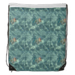 Underwater Mermaid Drawstring Bag