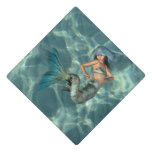 Underwater Mermaid Graduation Cap Topper