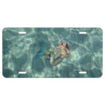 Underwater Mermaid License Plate