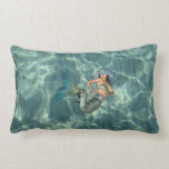 Underwater Mermaid Lumbar Pillow