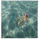 Underwater Mermaid Napkin