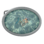 Underwater Mermaid Oval Belt Buckle