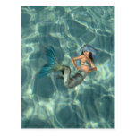 Underwater Mermaid Postcard