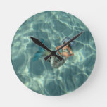 Underwater Mermaid Round Clock