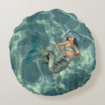 Underwater Mermaid Round Pillow