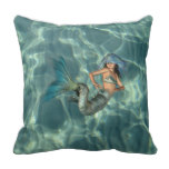 Underwater Mermaid Throw Pillow