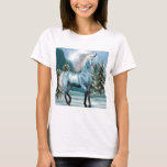 Unicorn in Moonlight Ladies T-Shirt