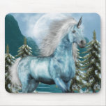 Unicorn in Moonlight Mouse Pad