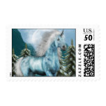 Unicorn in Moonlight  Postage Stamp