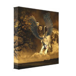 Winged Lioness  Canvas Print